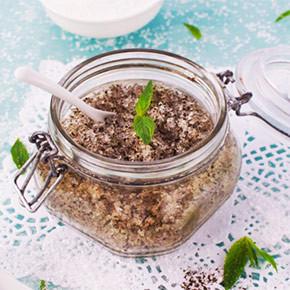 Зеленый чай и мята: натуральный сахарный скраб для тела